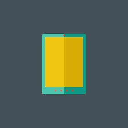Platte tablet-pictogram.