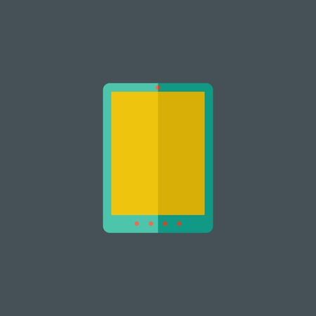 tablet: Tablet Flat Icon.