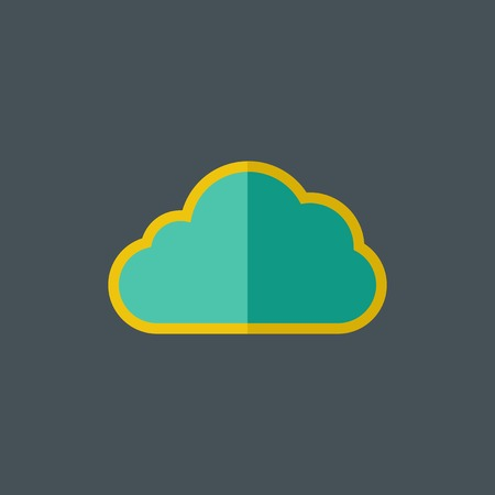Cloud Flat Icon. Vector Graphics.