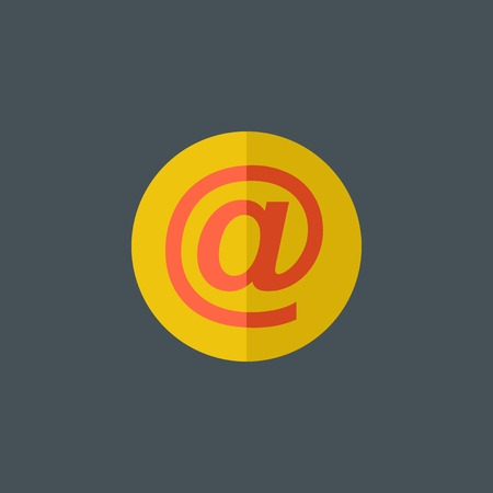 flat: Email Flat Icon.
