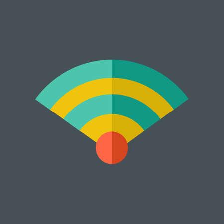 wireless icon: Network Flat Icon.  Illustration