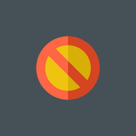 Stop Flat Icon Illustration