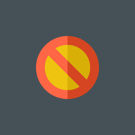 rejection: Stop Flat Icon Illustration