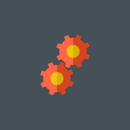 Gear Flat Icon.  Ilustracja