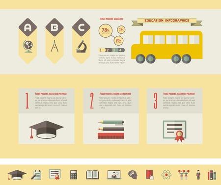 plus icon: Education Infographic Elements plus Icon Set. Vector.