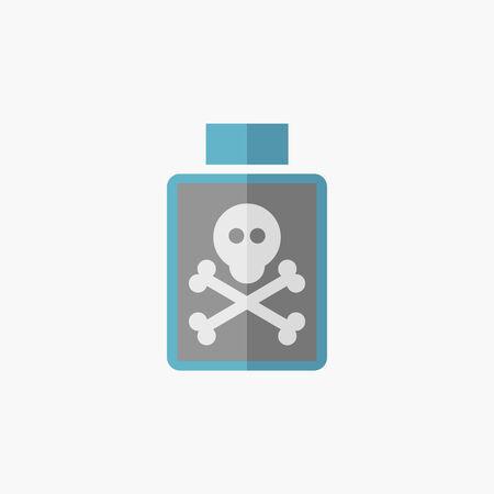 Poison. Icône médicale plat. Vecteur pictogramme. Banque d'images - 32985237