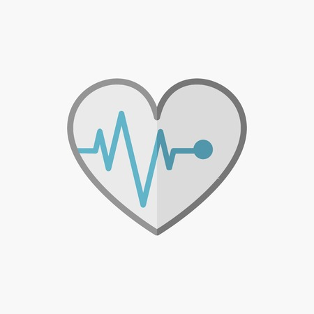 ECG. Medical Flat Icon. Vector Pictogram.