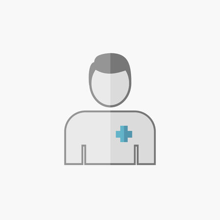 med: Doctor. Medical Flat Icon. Vector Pictogram. Illustration