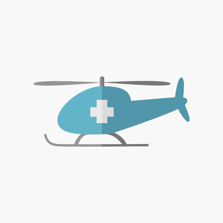 med: Emergency. Medical Flat Icon. Vector Pictogram.