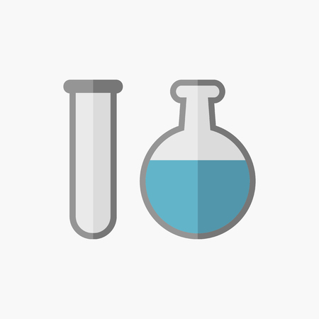Biochemie Flat Icoon. Vector Pictogram. Stock Illustratie