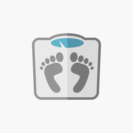 Weight. Medical Flat Icon. Vector Pictogram.