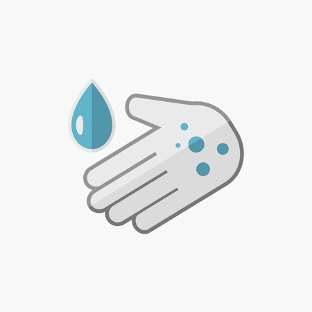 med: Hand Washing. Medical Flat Icon. Vector Pictogram.