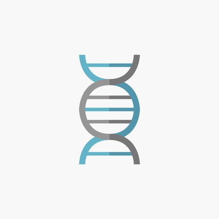 DNA. Medical Flat Icon. Vector Pictogram.