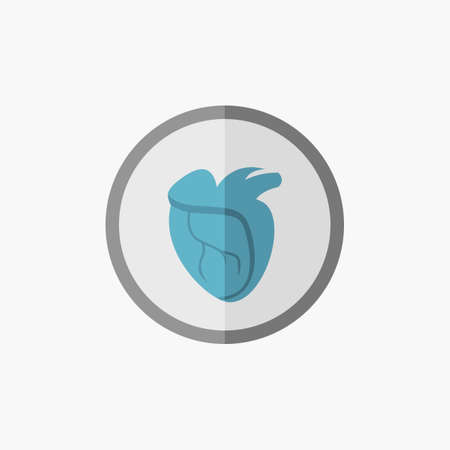 med: Heart. Medical Flat Icon. Vector Pictogram.