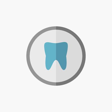 Dental. Medical Flat Icon. Vector Pictogram. 向量圖像