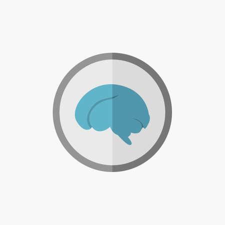 Brain. Medical Flat Icon. Vector Pictogram. Çizim