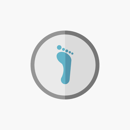 Foot. Medical Flat Icon. Vector Pictogram.