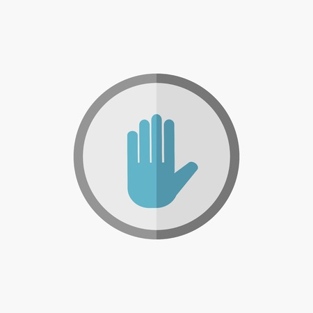 med: Hand. Medical Flat Icon. Vector Pictogram.