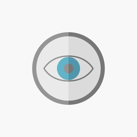 Eye. Medical Flat Icon. Vector Pictogram.