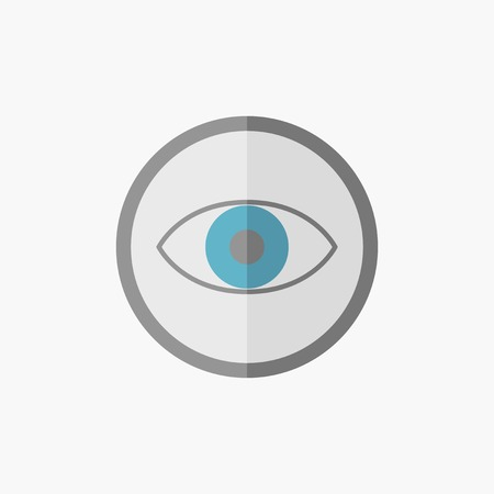 med: Eye. Medical Flat Icon. Vector Pictogram.