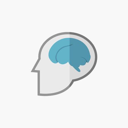 Brain Flat Icon. Vector Pictogram.