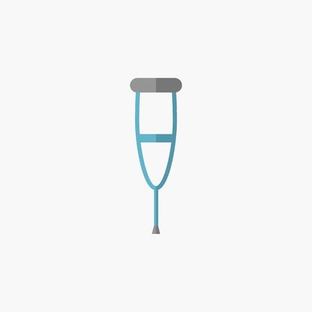 Crutches. Medical Flat Icon. Vector Pictogram. Vector