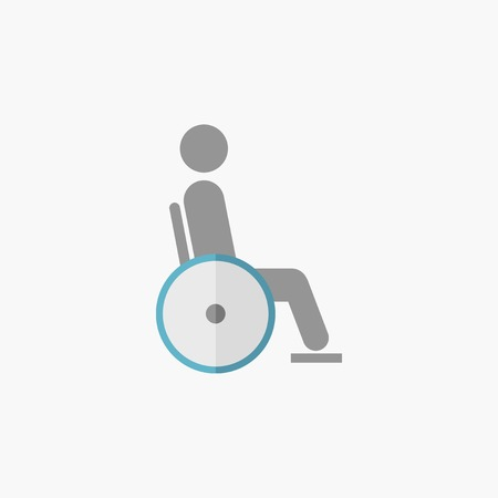 Disability. Medical Flat Icon. Vector Pictogram.