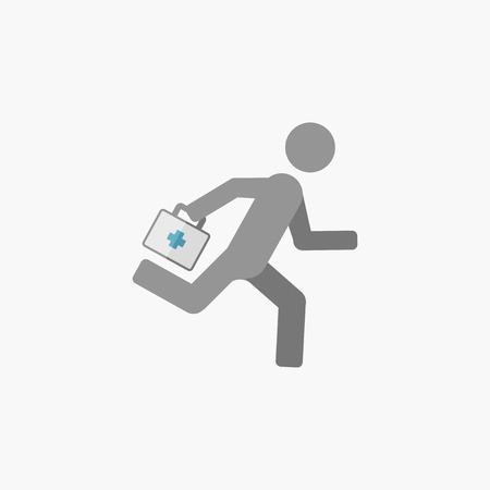 response: Emergency. Medical Flat Icon. Vector Pictogram.