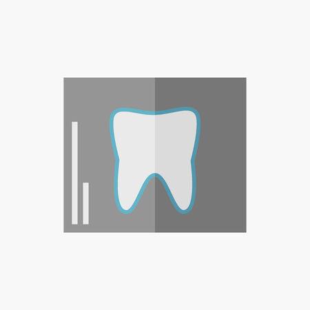 歯科。医療フラット アイコン。ベクトルのピクトグラム。