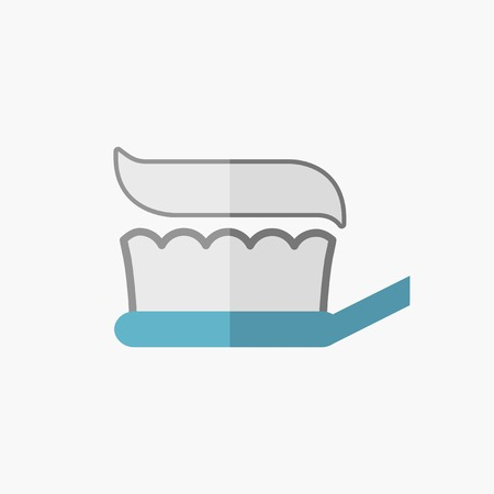Dental. Medical Flat Icon. Vector Pictogram. Illusztráció