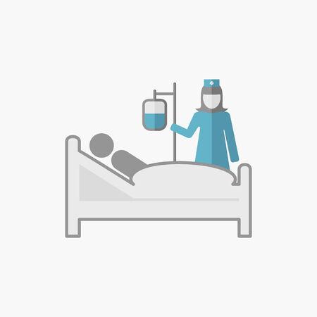 Emergency. Medical Flat Icon. Vector Pictogram. Vector