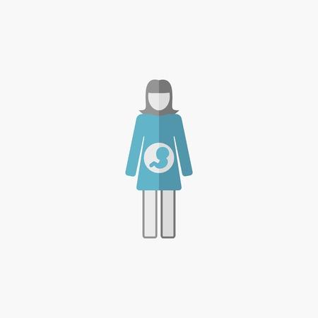 Maternity Flat Icon. Vector Pictogram. Illusztráció