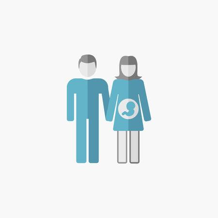 Maternity Flat Icon. Vector Pictogram. Vectores