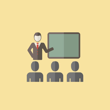 Flat Lecture Icon. Vector Graphics. Illustration