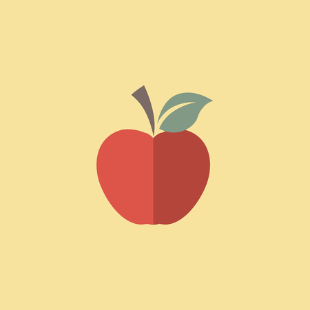 Flat Apple Icon. Vector Graphics. Ilustracja