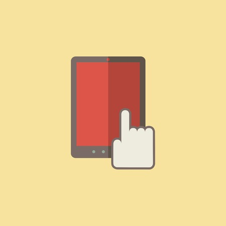 Flat Tablet Icon. Vector Graphics. Illustration