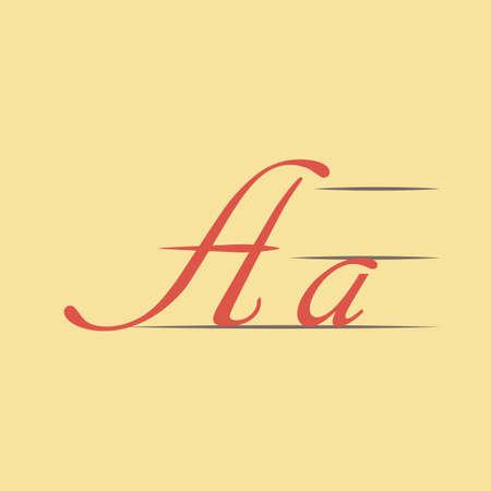 Flat Write Icon. Vector Graphics. Illustration