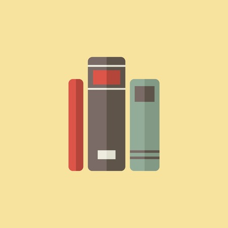 bibliography: Flat Library Icon. Vector Graphics.