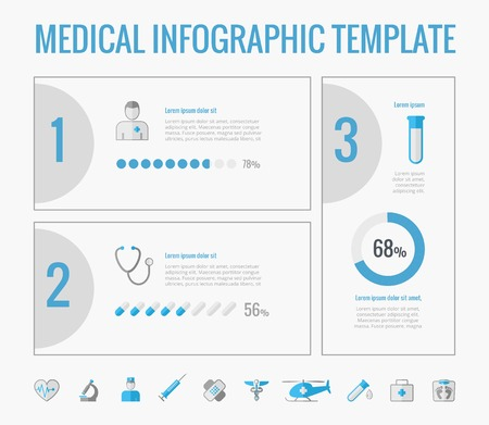 medical equipment: Medical Infographic Template. Vector Customizable Elements.