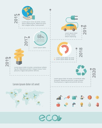 recycling: Ecology Infographic Template.