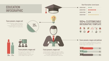 university students: Education Infographic Template.