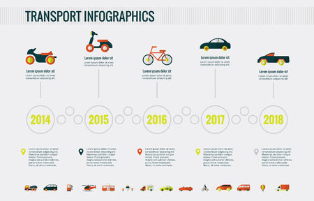 motor transport: Transportation Infographic Template.
