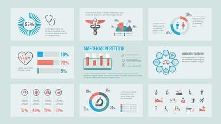 equipos medicos: M�dico Plantilla Infograf�a. Vector Personalizable Elementos. Vectores