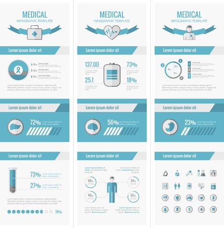 Médico Plantilla Infografía. Vector Personalizable Elementos. Foto de archivo - 35957895