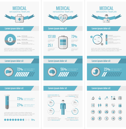 vector medical: Medical Infographic Template. Vector Customizable Elements.