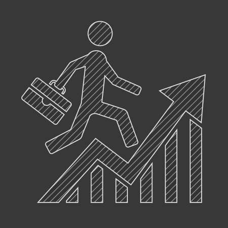 Business Sketch Icon. Vector Graphics. Illustration