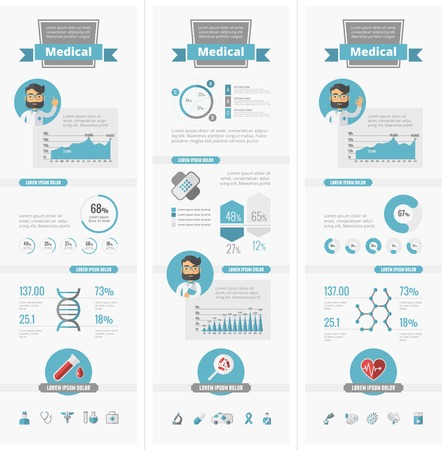 Modern flat design Medical vector infographic template.