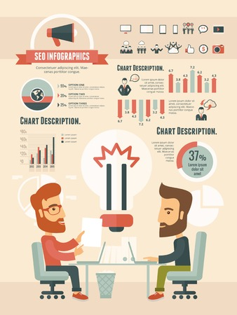 social gathering: Social Media Infographic Template. Vector Customizable Elements.