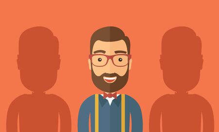 best employee: The best employee concept. Vector flat design Illustration.
