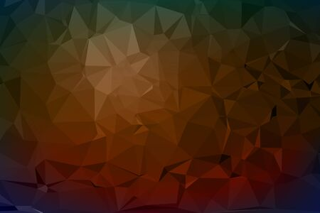 ice surface: Abstract triangle polygonal vector geometric background Illustration